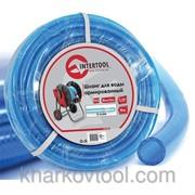 Шланг для воды 3-х слойный 1/2, 10м, армированный, PVC Intertool GE-4051 фото