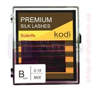 Ресницы фиолетовые изгиб B 0.15 (12 мм) фото
