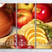 Модульна картина на полотні Натюрморт код КМ100200(200)-049 фото