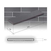 Плитка фасадная Глазур Графитовая 245х65х6,5 CERRAD фото