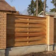 Заборы деревянные фото