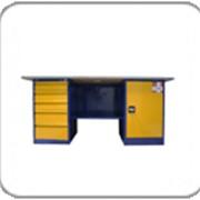Металлический двухтумбовый верстак с тумбой и драйвером ВП - 4/1.6, ВП - 4 фото