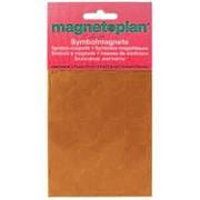 Магниты символьные Magnetoplan , d=15мм, 30шт на подложке, в блистере, для планингов, оранжевые 1253144 фото