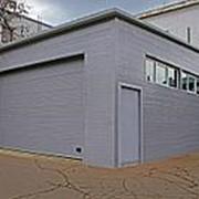 Строительство гаража из сэндвич-панелей с бетонными полами фото