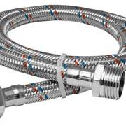 Шланг для подвода вода 0,3 м 1/2'' В/Н SD Алюминевая оплетка фото