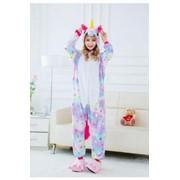 Пижама кигуруми Звездный единорог, детский, 130-140 см фото