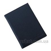 Портмоне-обложка 19 для документов navy flatar Кожа Украина фото