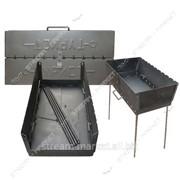 Мангал разборной Турист 8 шампуров (сталь 2мм., длина 0, 43м ширина 0, 28м высота ножек 0, 46м №748010 фото