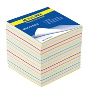 Блок бумаги для записей Buromax РАДУГА 90х90х60 фото