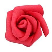Декор свадебный Роза красная 6см фото