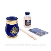 Стакан для ароматических палочек 8х8xH12 см, керамика, декор золото AMANTE BLU фото