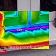 Тепловизионное обследование окна фото