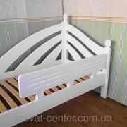 Белый защитный бортик (съемный) для детской кровати, массив - сосна, ольха. фото
