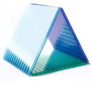 Сотовый поликарбонат от 4мм цветной и прозр. фото