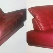 Покраска офисной и домашн кожаной мебели фото