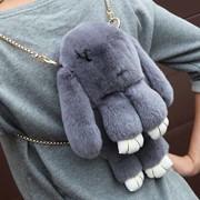 Сумка - рюкзак заец мех натуральный кролик фото