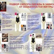 Плакат Подбор силуэта одежды в зависимости от особенностей фигуры В.15 фото