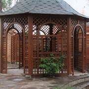 Альтанки деревянные, беседки деревянные, малые архитектурные формы из дерева, строительство, проектирование фото