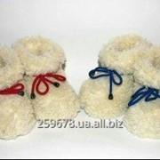 Чуни, теплые ботиночки из меха, обувь для дома. фото