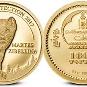 Инвестиционная золотая монета - Соболь фото