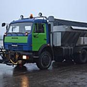 Дорожная машина ЭД-405 на шасси КамАЗ-65115 с пескоразбрасывающим оборуд-ем фото
