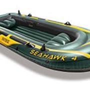Надувная лодка Seahawk 4, 351х145х48см, 2 подушки, до 400кг (Intex) фото
