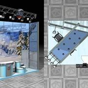 Разработка дизайн-проекта выставочного стенда, за 1 кв.м. фото
