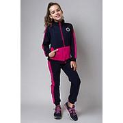 Модный спортивный костюм для девочки с розовыми вставками фото