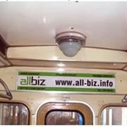 Размещение рекламных наклеек в вагонах метро Киев фото