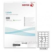 Этикетка самоклеящаяся Xerox, A4, размер 63,5*38,1 мм, 21 этикеток фото