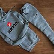 Мужской спортивный костюм Nike Just do it серый с капюшоном фото