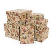 "Коробка подарочная ""Новогодняя история крафт"", прямоугольная, 190х150х90 мм, 8709 фото"
