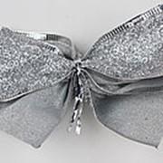 Набор бантов 10 шт., 10х5 см., серебряные, 7719 фото