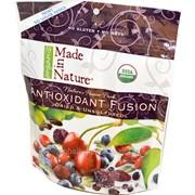 Микс вяленых органических ягод и фруктов - черешни, годжи, голубики, клюквы, пепитос и изюма Organic/ Made in Nature Antioxidant Fusion (№ MiNAntioxidantFusion) фото