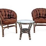 Комплект плетеной мебели ЭкоДизайн Комплект кофейный БАГАМА S, арт. 03/10 Б (S)-1 фото