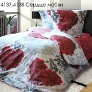 Комплект постельного белья Сердце любви фото