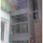 Вертикальный подъемник для инвалидов с ограждением шахты SL-001 фото