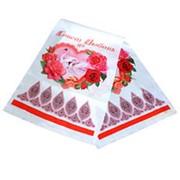 Рушник Лебеди розовый 135см х30см фото