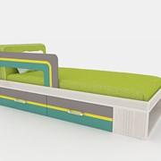 Кровать односпальная Line Design с защитой фото