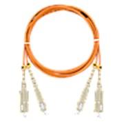 NMF-PC2M2C2-SCU-SCU-002 Шнур волоконно-оптический, многомодовый 50/125мкм, ОМ2, SC/UPC-SC/UPC, двойной, LSZH нг(A)-HFLTx, 2мм, оранжевый, 2м фото
