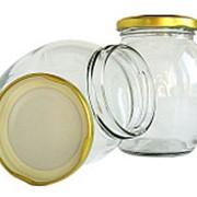 Банка стекло 0,5л винтовая с крышкой бочка (для консервирования и хранения) фото