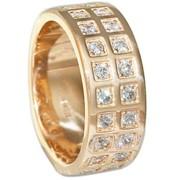Кольцо обручальное, золото Au 585° пробы, ср. вес 9.16 гр со вставками - Широкая шинка. куб.цирконий 2.0 24-0.288, код - ОК208 фото
