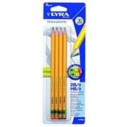 Набор графитовых карандашей Lyra Temagraph 2x2B, 2xHB, 0.7 мм фото