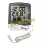 Влагомер (гигрометр), термометр, часы MAX-MIN TA218A для инкубатора с выносным датчиком фото
