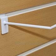 Крючок пластиковый Белый, 100 мм фото