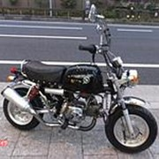 Мопед мокик Honda Monkey Gorilla рама AB27 гв 2000 Minibike тюнинг пробег 4 т.км черный серебристый фото