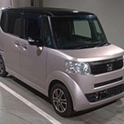 Микровэн HONDA N BOX кузов JF1 класса минивэн модификация Style G L Package 2014 пробег 34 т.км розово-черный фото