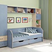 Детская комната Легенда 1 венге светлый/лен голубой фото
