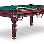 Бильярдный стол для русского бильярда Дебют 8ф (махагон) ЛДСП фото