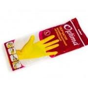 Перчатки хозяйственные латексные M желтые /12/240/ фото